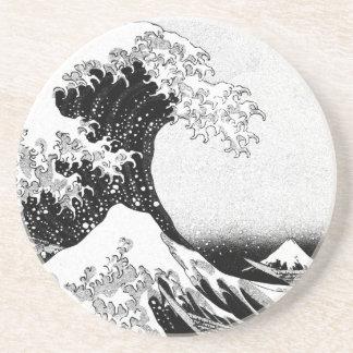 Die große Welle weg von Kanagawa (神奈川沖浪裏) Untersetzer
