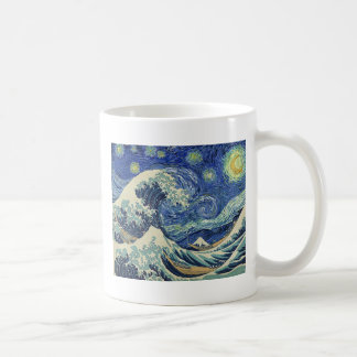 Die große Welle weg von Kanagawa - die Tasse