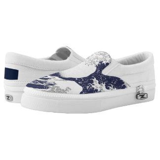 Die große Welle weg von Kanagawa durch Katsushika Slip-On Sneaker