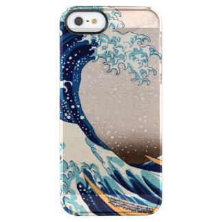 Die große Welle weg von Kanagawa Durchsichtige iPhone SE/5/5s Hülle