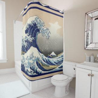 Die große Welle weg von Kanagawa Duschvorhang