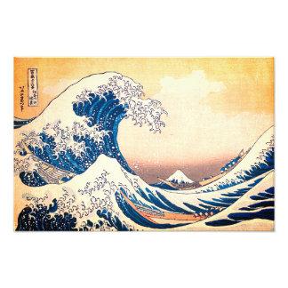 Die große Welle weg von Kanagawa Fotodruck