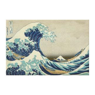 Die große Welle weg von Kanagawa Galerie Falt Leinwand