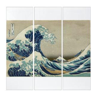 Die große Welle weg von Kanagawa - Hokusai 葛飾北斎 Triptychon