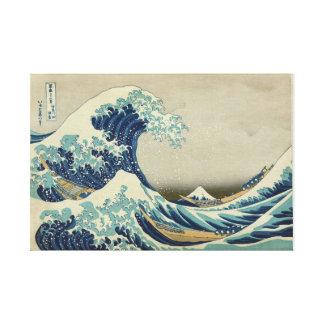 Die große Welle weg von Kanagawa - Katsushika Leinwanddruck