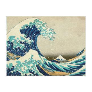 Die große Welle weg von Kanagawa Leinwanddruck