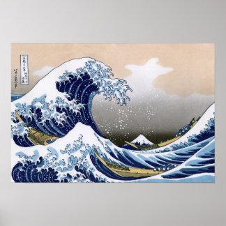 Die große Welle weg von Kanagawa Poster