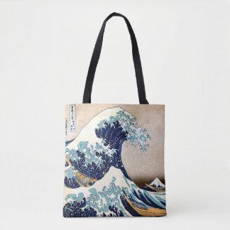 Die große Welle weg von Kanagawa Tasche