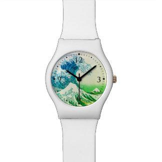 Die große Welle weg von Kanagawa Uhr