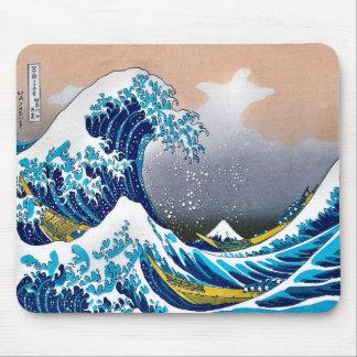 Die große Welle weg von Kanagawa-Vektor HD Mauspad