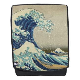 Die große Welle weg von Kanagawa: Woodblock Druck Rucksack
