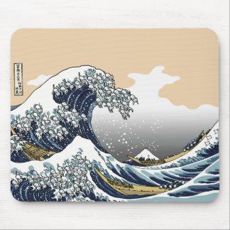 Die große Welle weg von Katagawa Mousepad