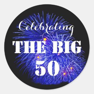 Die GROSSEN 50 feiern - Runder Aufkleber