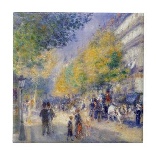 Die großen Boulevards durch Pierre-Auguste Renoir Fliese