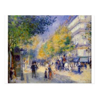 Die großen Boulevards durch Pierre-Auguste Renoir Postkarte