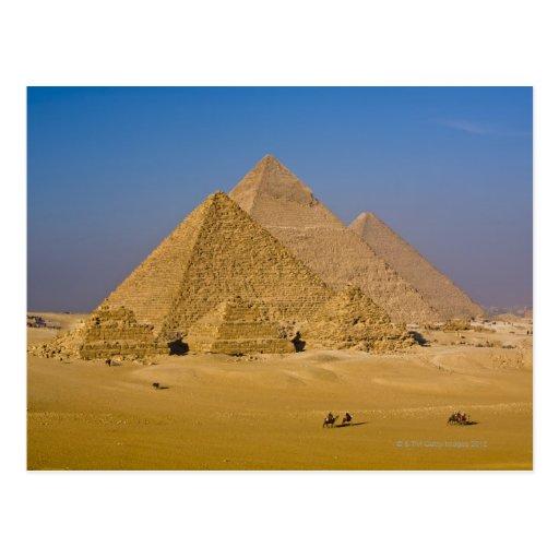 Die großen Pyramiden von Giseh, Ägypten Postkarte
