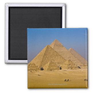Die großen Pyramiden von Giseh, Ägypten Quadratischer Magnet