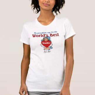 Die Großmutter-Blau und Weiß der Welt bestes T-Shirt