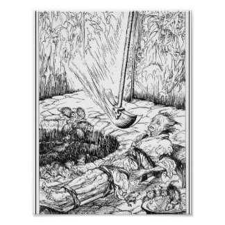 Die Grube und das Pendel durch Rackham Poster