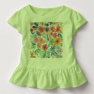 Die grüne Farbe gedeiht infantiler Blusinha Kleinkind T-shirt