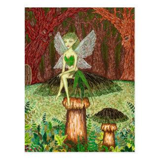 Die grüne Fee Postkarte