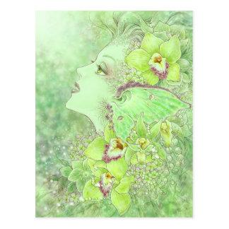Die grüne Feen-Postkarte Postkarte