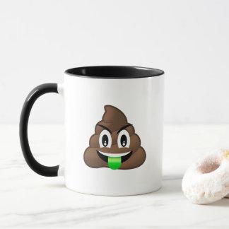 Die grüne verrückte Zunge kacken Emoji Tasse