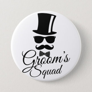 Die Gruppe des Bräutigams Runder Button 7,6 Cm