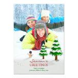Die Gruß-Foto-flache Karte der Jahreszeit Einladungskarte