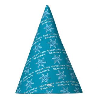 Die Gruß-Schneeflocke-Party-Hut der Jahreszeit Partyhütchen