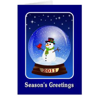 Die Gruß-Schneemann 2011 der Jahreszeit Mitteilungskarte