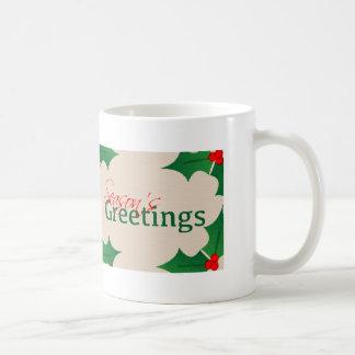Die Gruß-Tasse der Stechpalmen-Jahreszeit Kaffeetasse