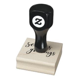Die Gruß-Typografie-Gummi-Briefmarke der Gummistempel