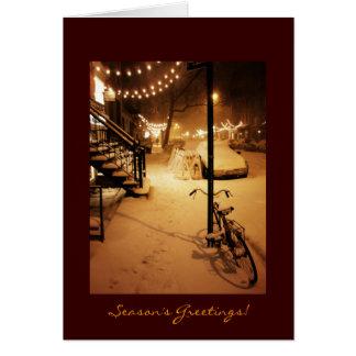 Die Grüße der Jahreszeit - Feiertag - Schneefälle Karte