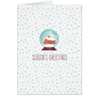 Die Grüße der Jahreszeit - Schneeball Karte