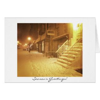 Die Grüße der Jahreszeit - schöne Snowy-Stadt Karte