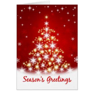 Die Grüße der Jahreszeit - Stern-Baum-Weihnachtska