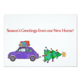 Die Grüße der Jahreszeit vom neuen Zuhause 12,7 X 17,8 Cm Einladungskarte