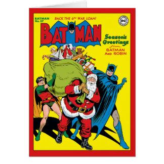 Die Grüße der Jahreszeit von Batman und von Robin Karte