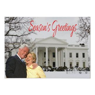 Die Grüße der Jahreszeit von Bill u. vom Hügel 12,7 X 17,8 Cm Einladungskarte