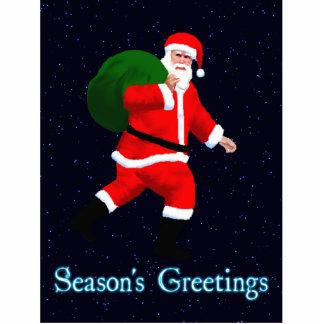 Die Grüße der Jahreszeit - Weihnachtsmann Fotoskulptur Magnet
