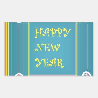 Die Grüße des neuen Jahres Rechteckiger Aufkleber