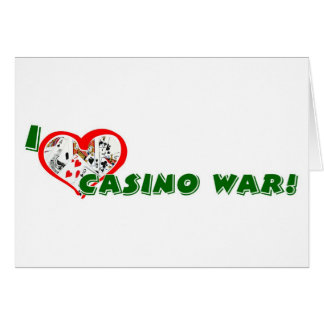 Die Grüße Kasino-Krieg Spielers Karte
