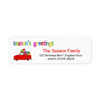 Die Grüße LKW- und Geschenke Weihnachtsaufkleber