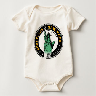 Die guten Pläne für eine Reise nach New York Baby Strampler