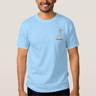 Die Gymnastik der Frauen Besticktes T-Shirt