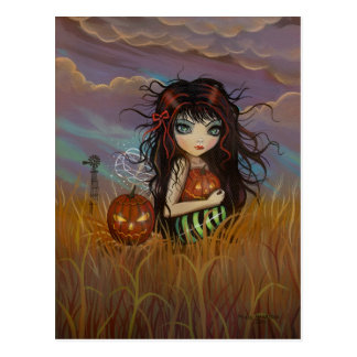 Die Halloween-Fee-Postkarte Postkarte