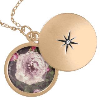 Die Halskette der volle Blüte-Rosa-Rosen-Frauen