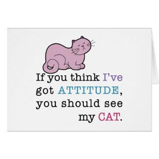 Die Haltungs-lustige Katze meiner Katze Karten
