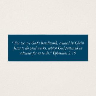 """Die Handarbeits-"""" kleine Anmerkungen """"des Gottes Mini Visitenkarte"""